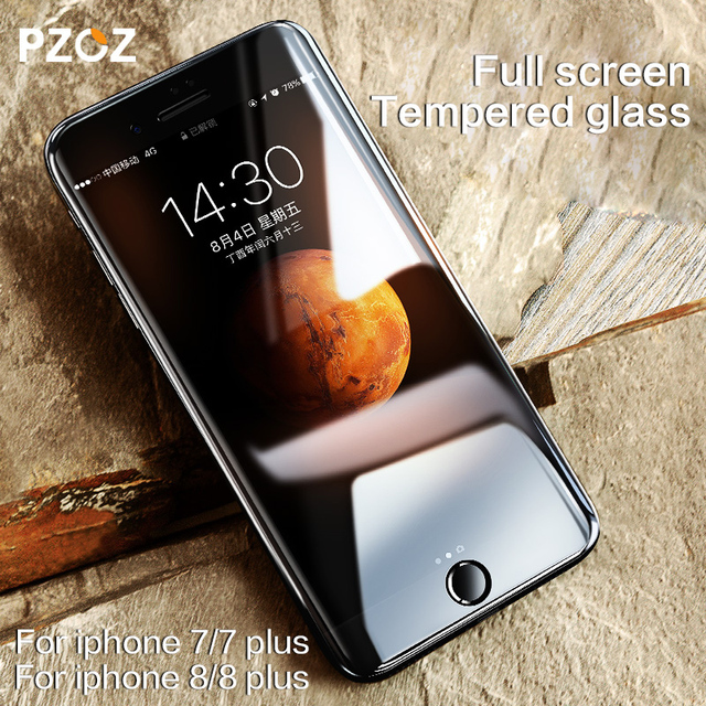 PZOZ For Iphone 8 Glass Tempered Screen Protector Film 3D Surface Fully Fit Cover Anti Blue