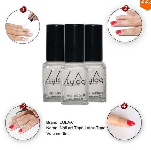 2017White Peel Off Liquid nail art Tape Latex Tape & finger skin protected liquid Palisade Easy clean Base Coat care nail polish
