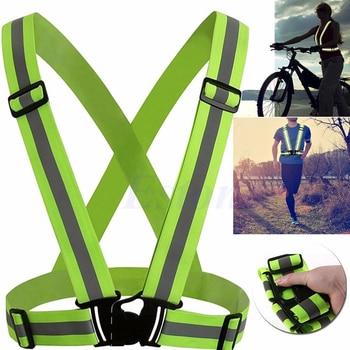 2610201d0c4f 1 шт. унисекс Открытый Велоспорт Детская безопасность жилет велосипед ленты  велосипедные отражатели эластичный жгут для ночной езды бег
