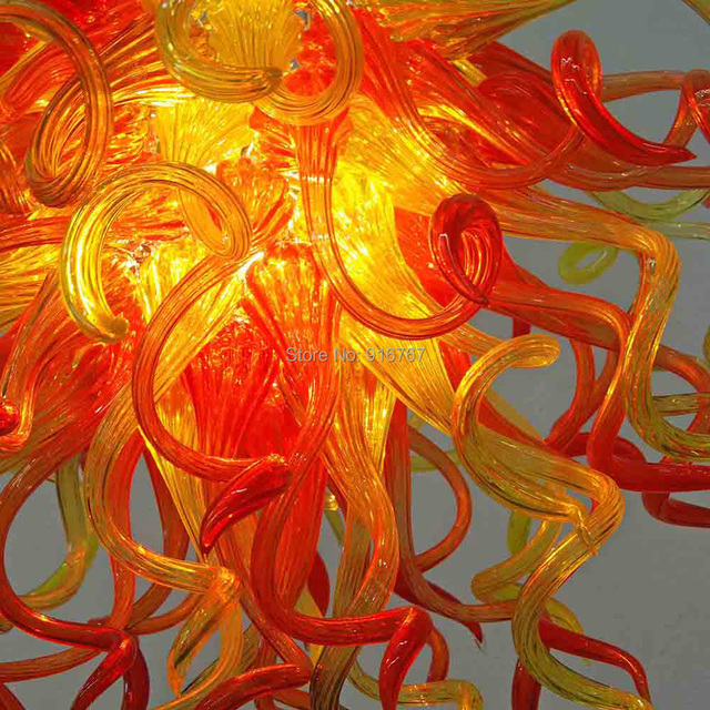 Livraison gratuite UL/CE LED ampoule fantastique soleil Murano verre à la main lumière décoration lampe