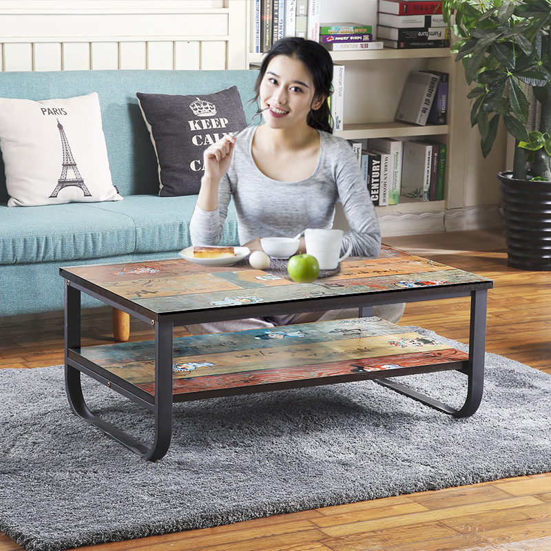 Vintage Apartment Metal Frame and MDF Board Simple Living Room Coffee Table Tea Table my apartment