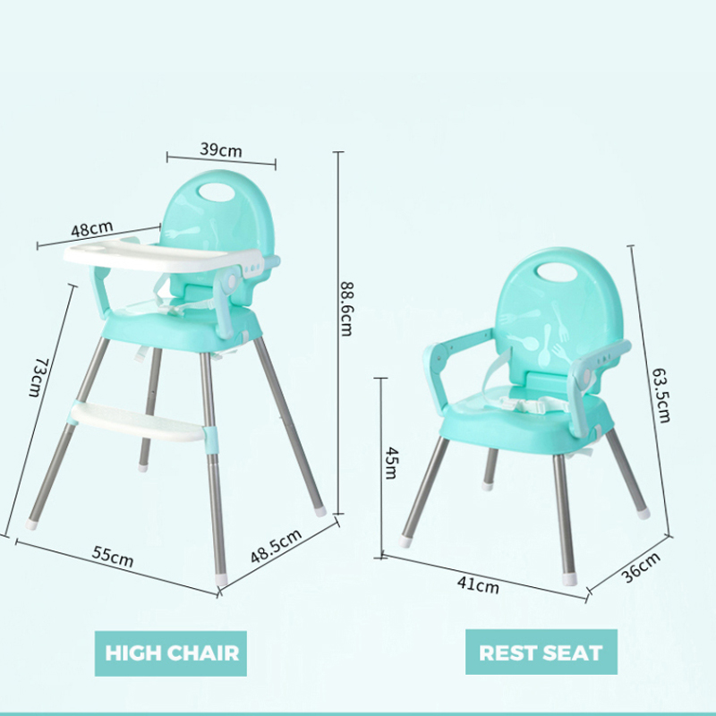 Купить с кэшбэком Eco-friendly Infant Baby Dinning High Chair Baby Kids Children Feeding Highchair