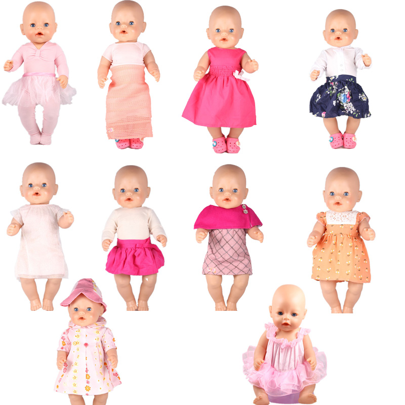 10 Kinds of Clothes For Baby Born Pink Dance Doll Dresses Baby Born Doll Accessories Fit 43CM Baby Born Zapf Doll