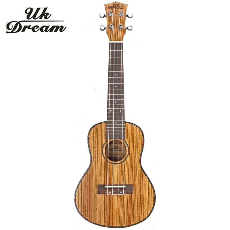 Mini Guitar 23 polegada 18 4 Zebra Botão Fechado Ukulele Hawaii Guitarra Pequena Guitarra De Madeira Instrumentos Musicais de Cordas ukelele UC-22J