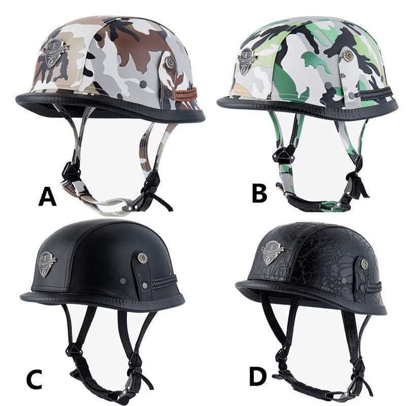 CARPRIE Motorcycle Safety Helmet ABS Plastic Motorcycle Helm Motorcross Retro Personality Fashion Half Helmet dropship m15