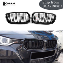 Gloss Black Kidney Grille for BMW F30 F31 3 Series ABS material Replacement Car Styling 2012+ 328i 330i 335i цена