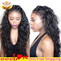 100 Indian Remy Human Hair Full Lace Wigs 7a Virgin Lacefront Wigs for Black Women Natural Color Tangle Free Human Hair Wigs 7a