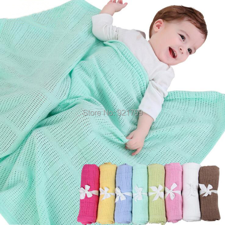 8Color Candy Color Infant Woolen Blanket Newborn 100% Organic Cotton Knitted Baby Blanket for Boys Girls Kids 70*90cm