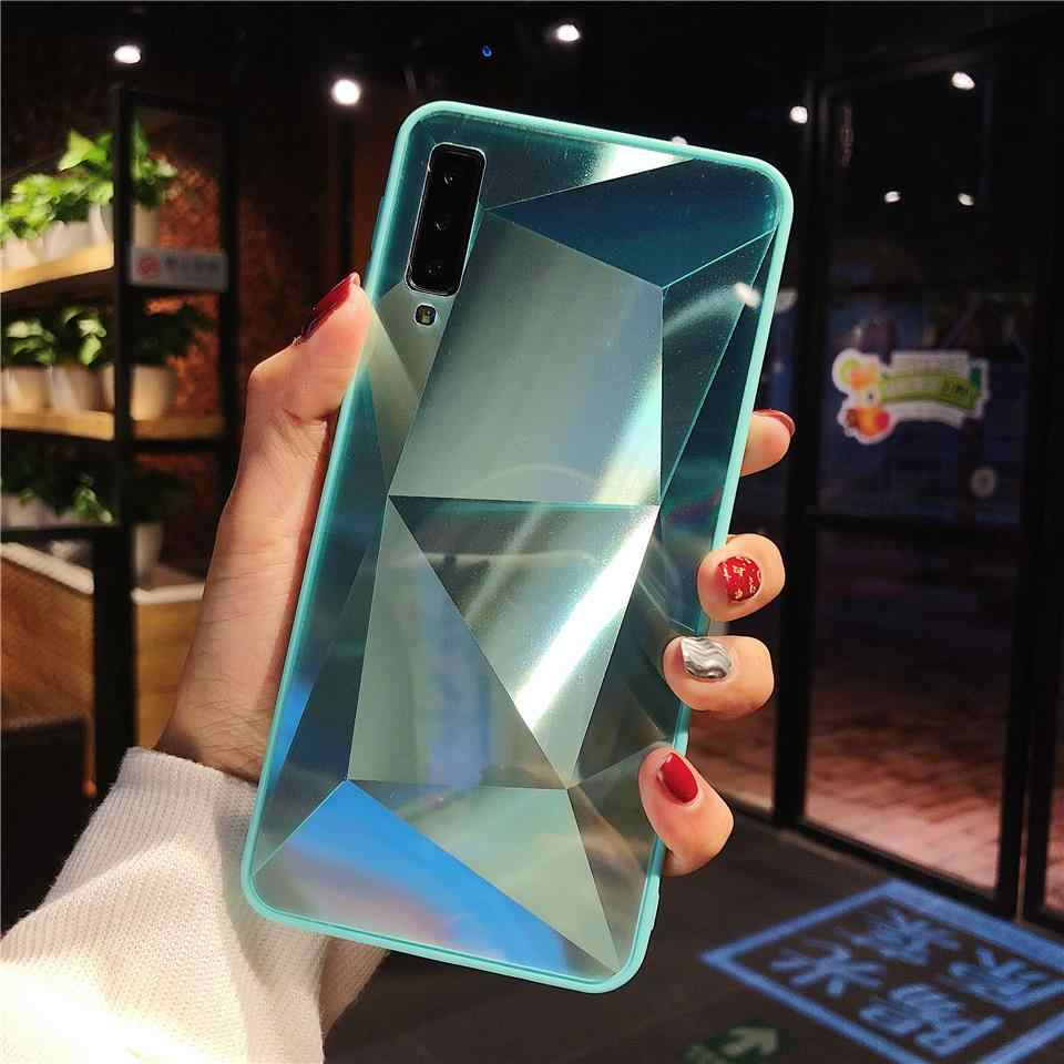 3D Bling Phone Cover for Samsung Galaxy A7 A8 A6 A5 2018 J4 J6 Note 9 8 S9 S8 Plus Case Hard Diamond Texture Full Protective