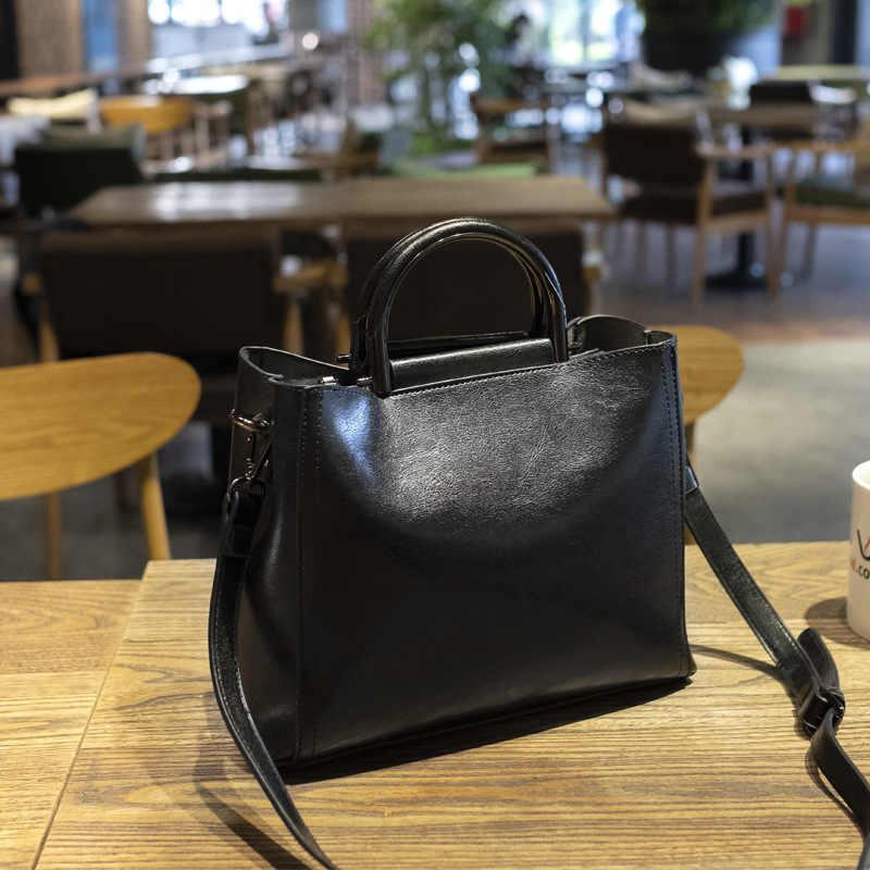 2020 yeni varış kadın çantası retro yağ balmumu deri çanta bayan çanta moda küçük çanta omuz çantaları drop shipping C811