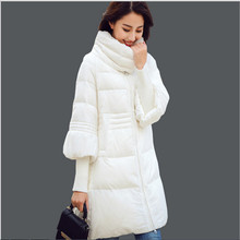 2019 kış ceket kadınlar uzun kaban pamuk kapitone ceket coat casual dış giyim parka casacos De inverno femininos J088