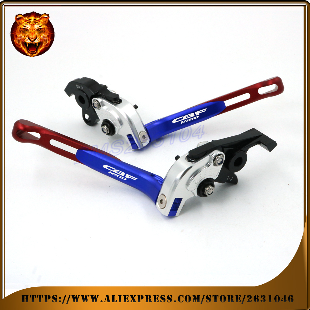 Adjustable Folding Extendable Brake Clutch Lever For HONDA CBF 1000 CBF1000 2006 07 08 09 WITH LOGO Free shipping Motorcycle yoursfs 18k wihte gold plated zircon adjustable ring