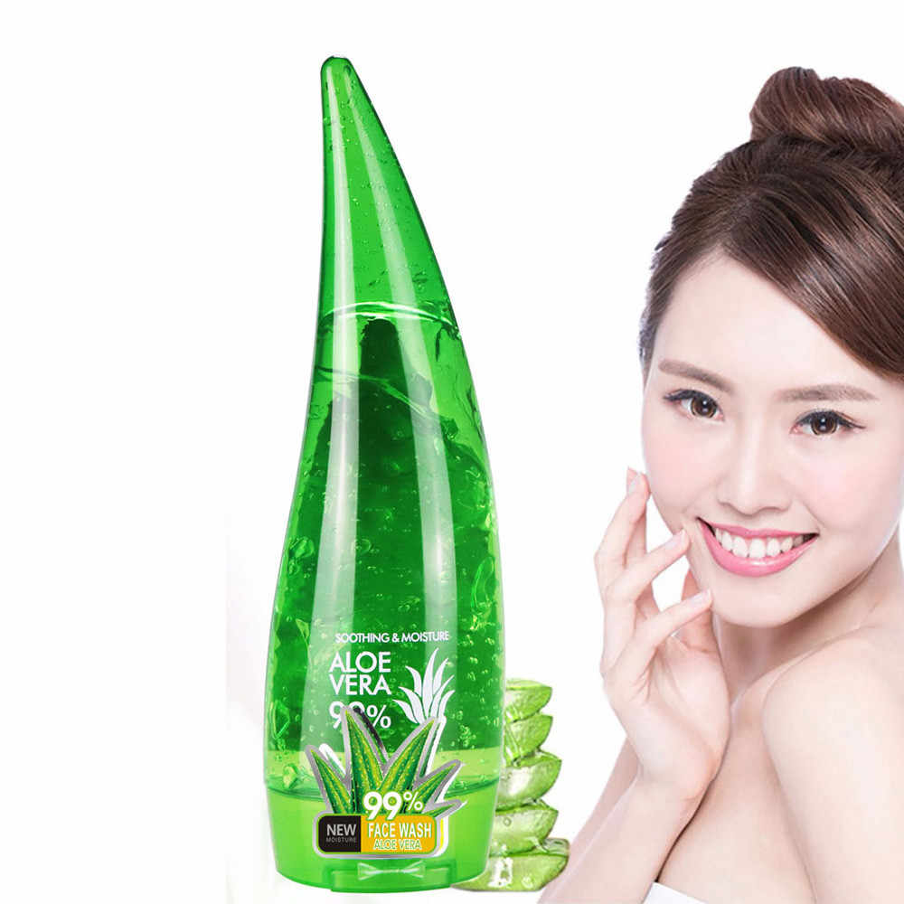 Aloe Vera GEL Skin Care Facial Cleanser ลบ Blackhead WASH Moisturizing Skin Aloe Soothing Facial Cleanser เจลว่านหางจระเข้ 120G