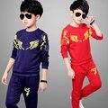 Brand Autumn Kids Sweatshirt+Sports Pants Toddler Boys Girls Clothing Set Children School Uniform Jacket Pants Tracksuit