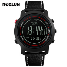 Bozlun Men Sports Watches Weather Altitude Pressure Temperature Digital Wristwatches Compass Waterproof Relogio Masculino MG03