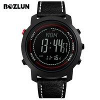 Esportes Homens Relógios Altitude Tempo Bozlun Pressão Temperatura Digital Relógios De Pulso Bússola À Prova D' Água Relogio masculino MG03