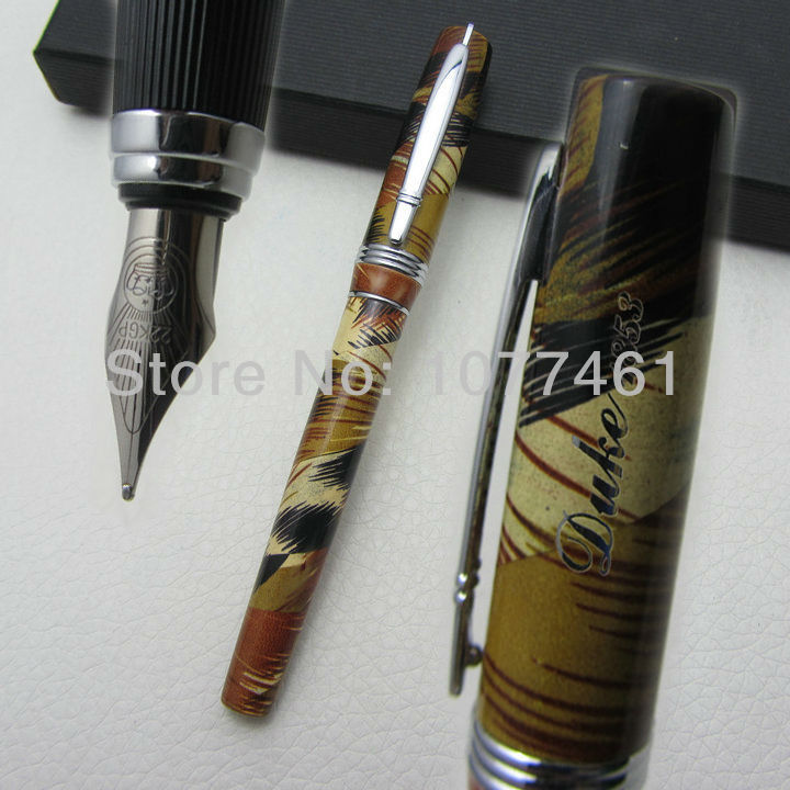 advanced fountain pen Germany DUKE P06 Coloured Painting medium nib 22KGP With gift box D1002 italic nib art fountain pen arabic calligraphy black pen line width 1 1mm to 3 0mm