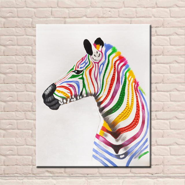Nieuwe ontwerp handgeschilderde kleurrijke zebras schilderijen op nieuwe ontwerp handgeschilderde kleurrijke zebras schilderijen op canvas moderne abstracte animal art hoogopgeleide kerstversiering thecheapjerseys Gallery