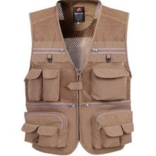 Brieuces Summer Outdoors Tactical Mesh Vest Men Breathable Shooting Multi Pockets Vest Shooting Waistcoat Sleeveless Jacket coat цена 2017