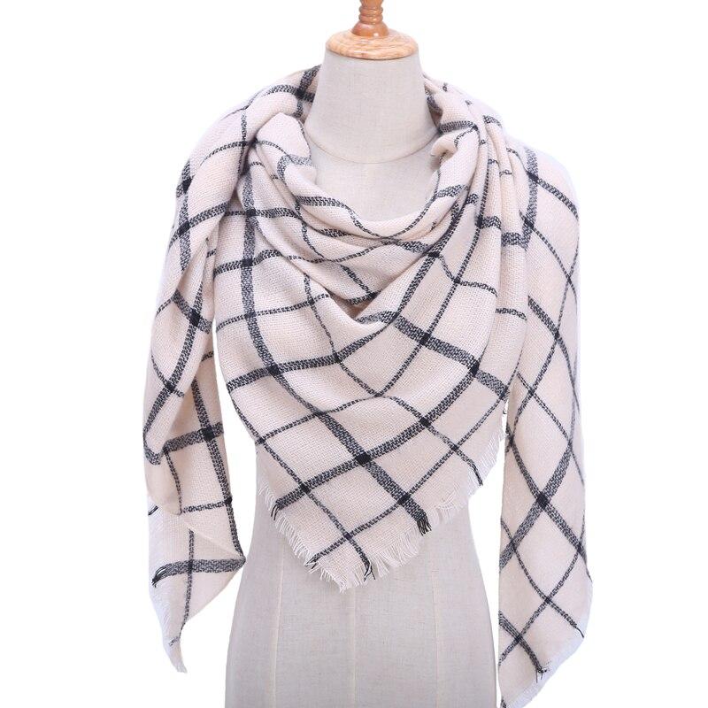 Бандана палантин платок на шею шарф зимний Дизайнер трикотажные весна-зима женщины шарф плед теплые кашемировые шарфы платки люксовый бренд шеи бандана пашмина леди обернуть - Цвет: b29