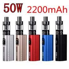 New vape Electronic Cigarett Box Mod kit 50W battery 2200mAh Temperature Control Electronic Hookah e cigarette kit