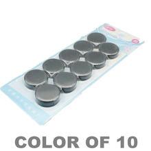 10pcs di Montaggio Magnetico Bottoni Nero Dia. 30x10mm Bordo Bianco Magnete in Ferrite in Vaso di Ceramica in Possesso di Magnete Permanente 3x1 centimetri