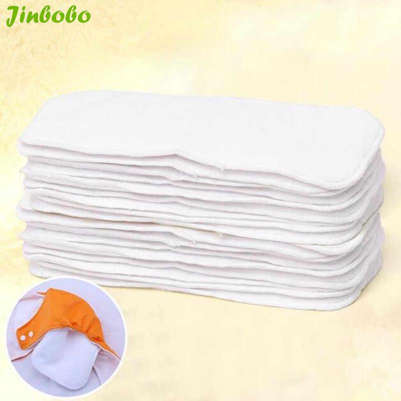 Sunny Ju 5 unids/lote 3 capas encartes de microfibra algodón suave pañales de bebé lavables reutilizables pañales de tela para bebés pañal nuevo