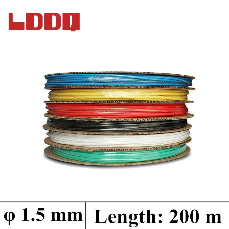 lddq 1 5mm 200m cable sleeve heat shrink tube shrinkage
