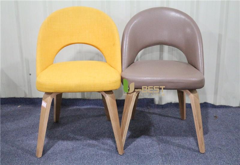 Saarinen Executive mid century side dining chair with wood leg (1)