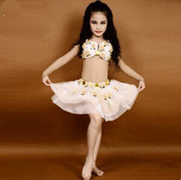 New Arrival Bra Skirt Egypt Style Kids Child Belly Dancing Costumes Fully Hand Made Sewed BellyDance