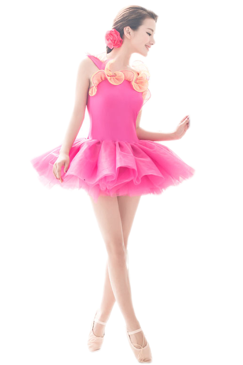 Professional Blue Green Orange Red Pink Dance Costumes For Girls Wmoen Children Ballet Mujer Tutu Dress Gymnastic Leotards