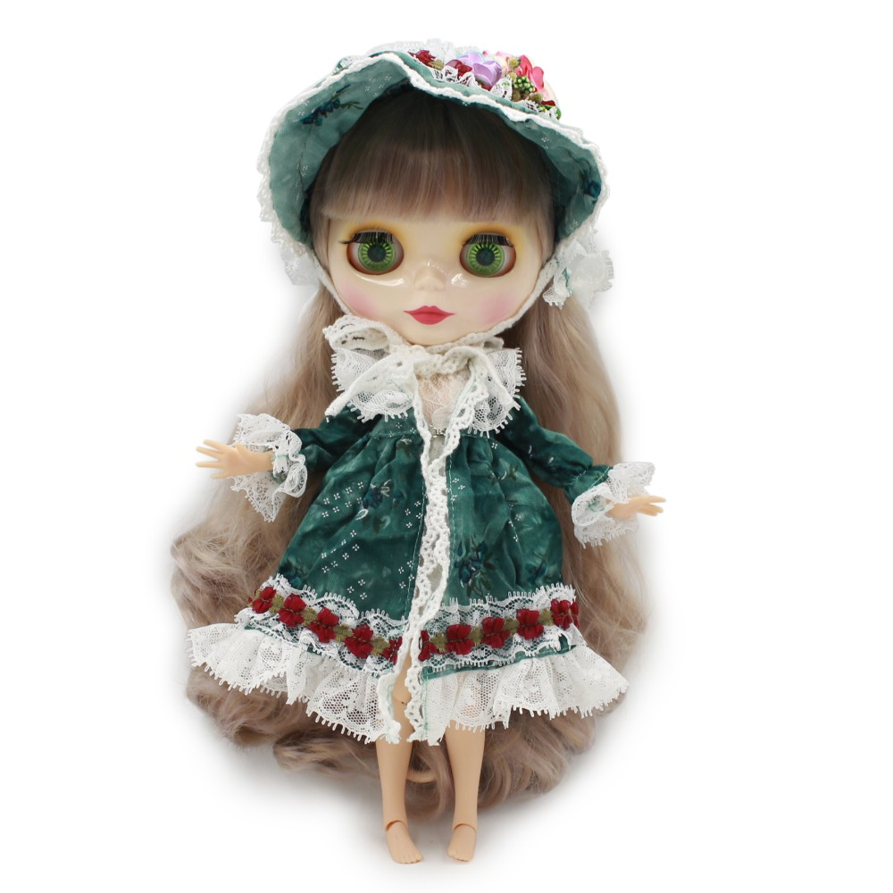 Neo Blythe Doll with Multi-Color Hair, White Skin, Shiny Face & Jointed Body 1