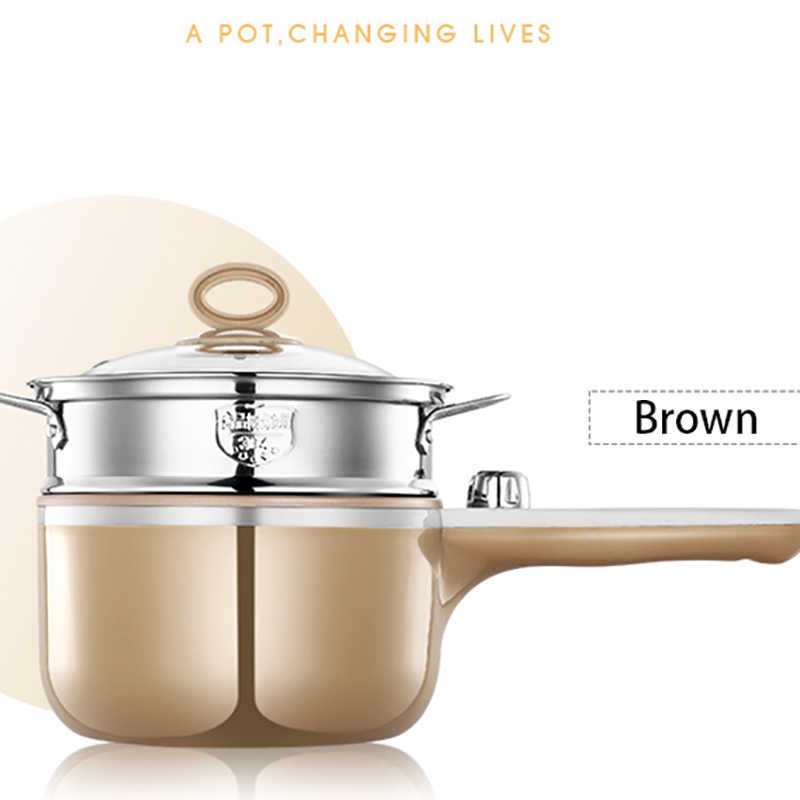 Multi-function Electric Cooker Steam Boil Fry Electric Mini Skillet Kitchen Cooking Noodle Pot 220V