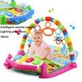Ginásio Esteira do Jogo do bebê Musical Educacional Brinquedos para Recém-nascidos Oyuncak Eletrônico Luz Suave Brinquedos Do Bebê Chocalho Brinquedos Para Bebe