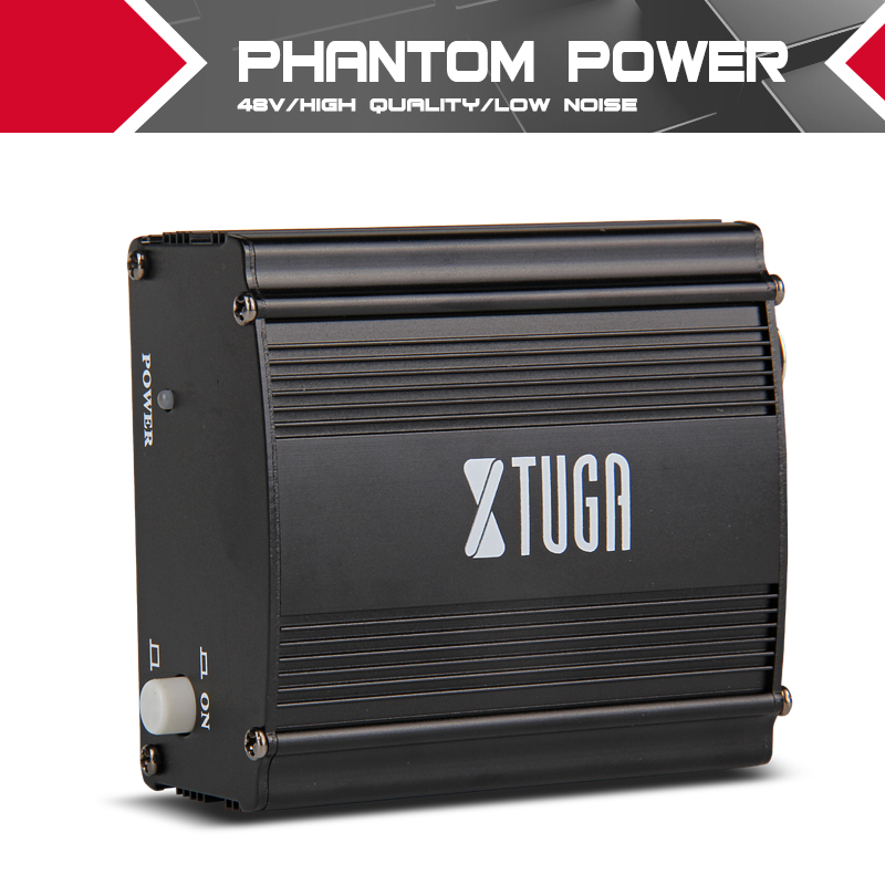 XTUGA Phantom power suppl 1- Channely 48V Low noise High quality Condenser Micro Recording Equipment large stock low price high quality multi functional recording condenser microphone yr01