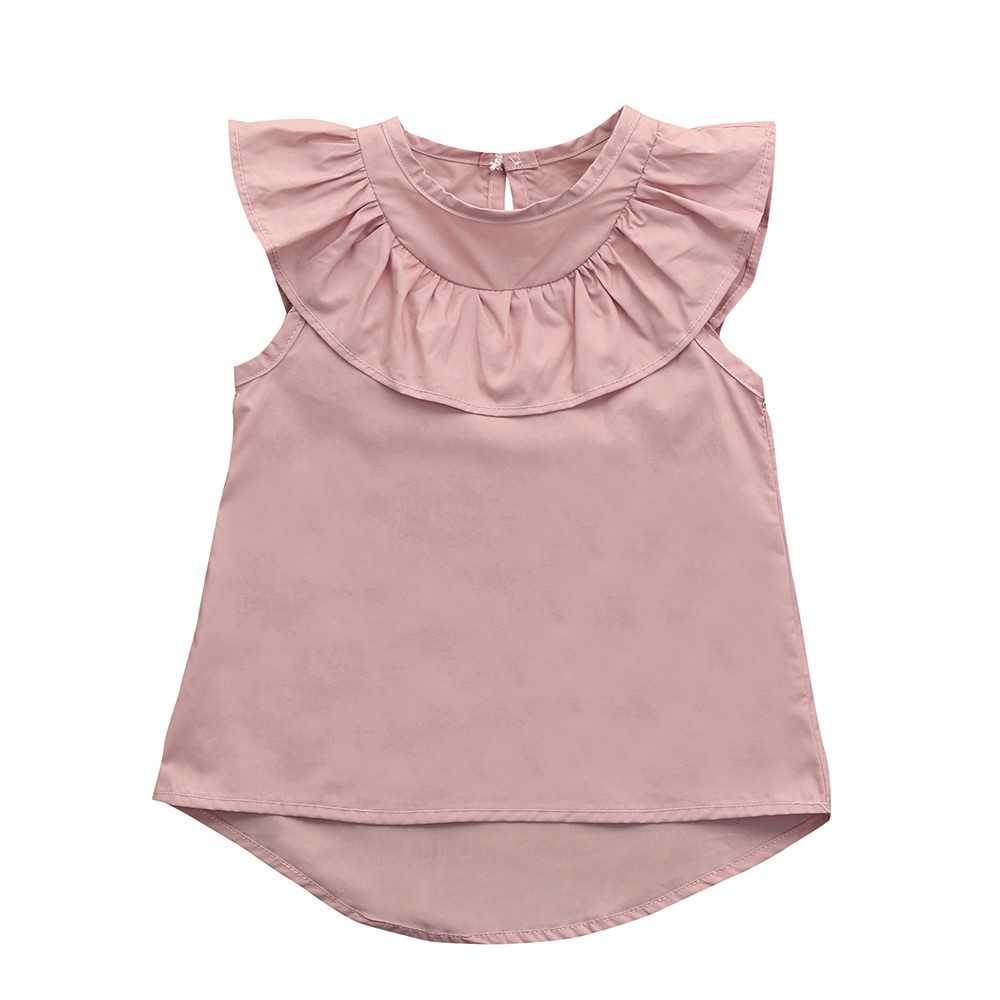 2018 New Fashion Toddler Baby Girls Ruffles Sleeveless Dress Clothes Summer Dress Outfits Clothes High Quality Drop Shipping