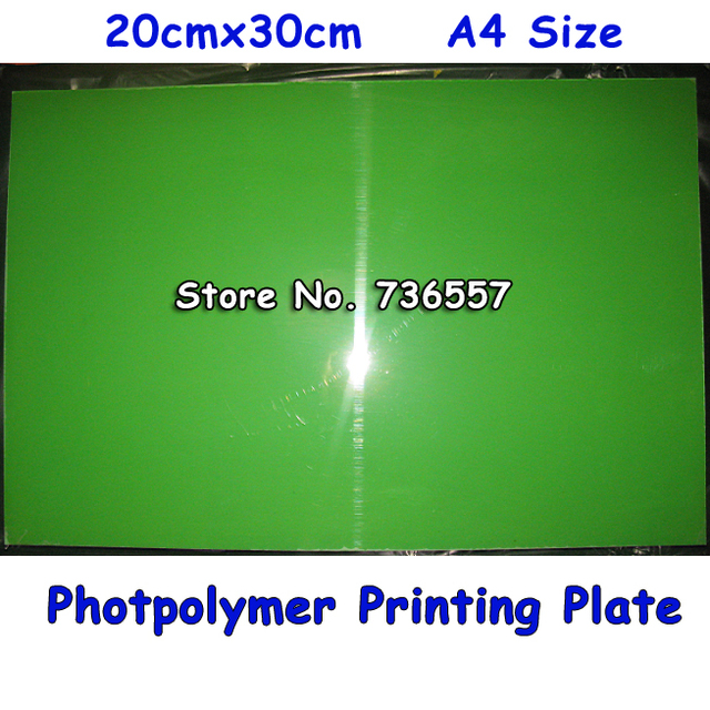 200x300MM A4 Size Water Washable for Pad Printing Hot Foil Stamping CliChe Making UV Exposure Photopolymer Printing Plate Mold
