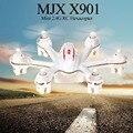 Original MJX X901 Mini RC Quadcopter Nano 2.4G 6 Eixo RTF branco E Preto Mini Drone Com Luz LED Helicóptero de Controle Remoto