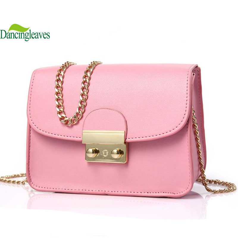2017 newest women messenger bags pink color crossbody bags for girls lady shoulder bags bolsa feminina DL9286