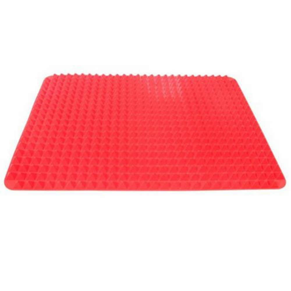 가정 사용 빨간 피라미드 Bakeware 팬 Nonstick 실리콘 베이킹 매트 패드 금형 요리 매트 오븐 베이킹 트레이 시트 주방 도구