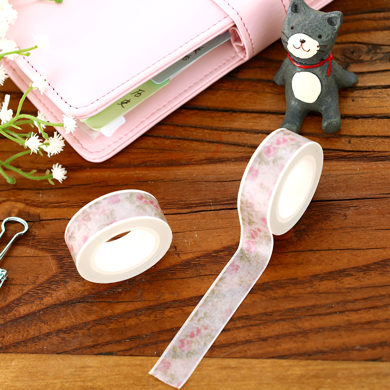 Vintage Rose Washi Tape 10m  Flower Masking Tape DIY Cintas Decorativas De Papel Adhesiva