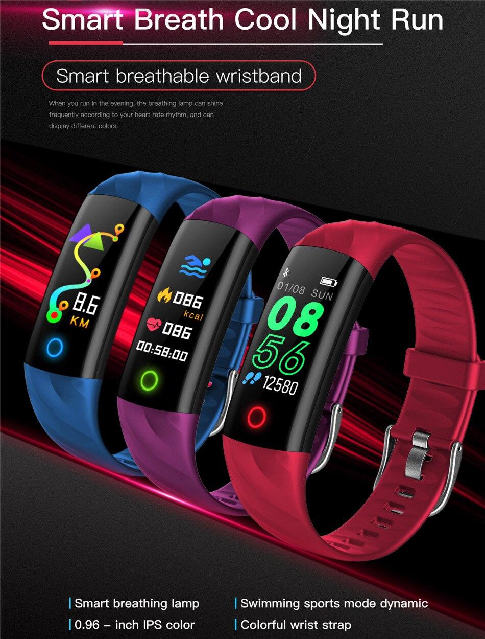 LIGE Smart Watch Women IP68 Waterproof Sport Bracelet Smart Fitness Tracker Blood Pressure Heart Rate Monitor intelligent Watch