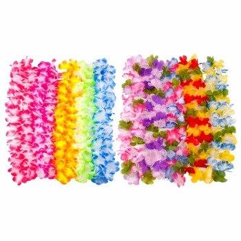 HUIRAN Artificial Flower Garland Hawaiian Necklace Party Decorations Hawaii Favors Summer Supplies
