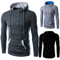 2016 New Arrival Chandal Hombre Winter Brand Turtleneck Sweater Fashion Men Casual  Soild Pullover Mens Hoodie Sweaters 13M0419