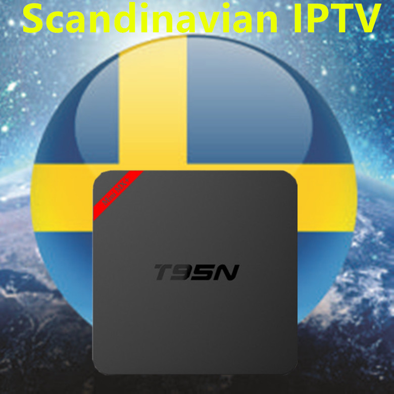 2018 Sweden IPTV Box Android T95N 6.0 TV Box For Europe/Sweden/French/Germany/Italy/XXX 4000+ Scandinavian channels set top box 2017 new arrival esuntv free iptv android tv box 2 16g europe sweden french germany italy xxx 4000 scandinavian channels