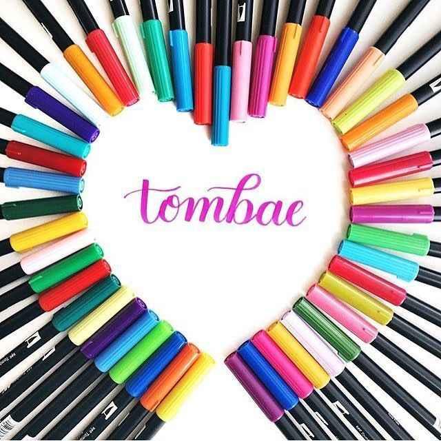 1 pieza de Japón Tombow doble pincel acuarela arte marcador para letras diseño de animación caliente en Instagram ABT Pen