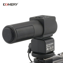 лучшая цена KOMERY Video And Camera Microphone Condenser Microphone Professional Stereo Microphone Compatible With DV And SLR Cameras
