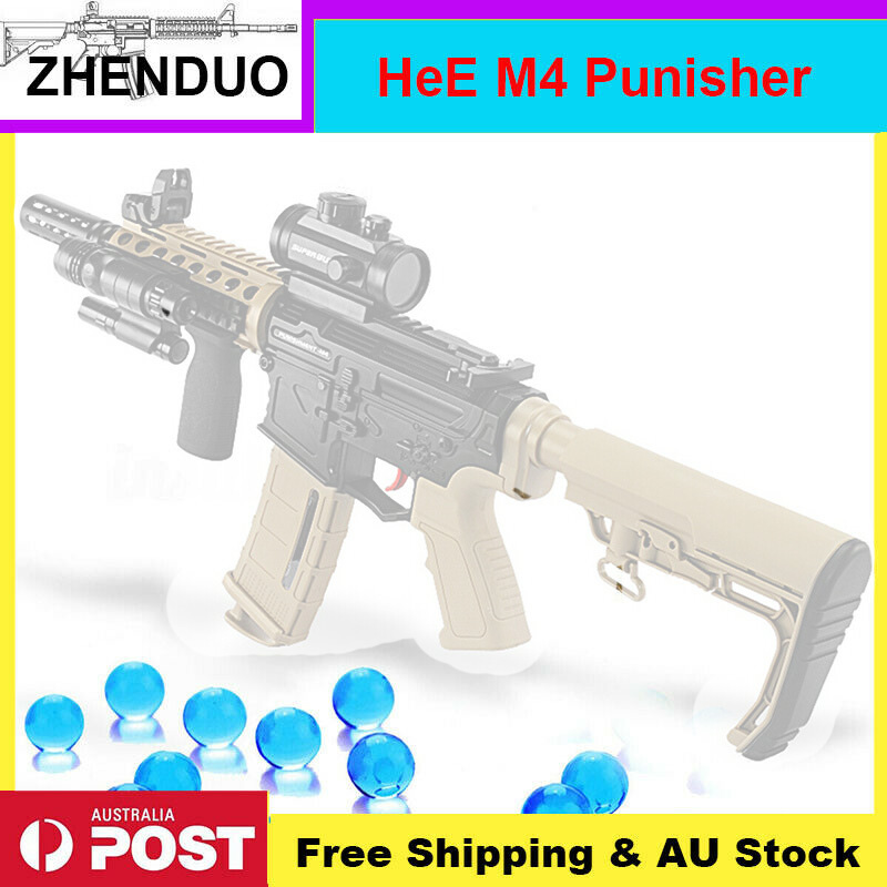 ZhenDuo jouets Auto HeE M4 punisseur Gel balle Blaster pistolet à eau balles Mag-fed jouet AU Stock