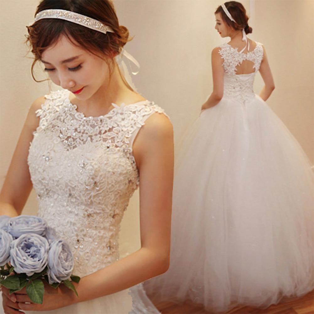 Fansmile 2020 Robe De Mariage Princess White Ball Gown Wedding Dresses Vestido De Noiva Plus Size Custom Wedding Gowns FSM-023F