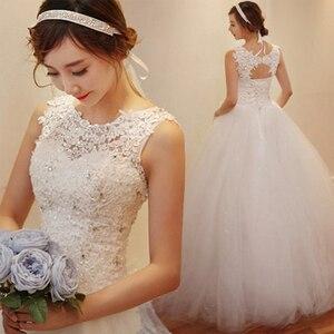 Image 1 - Fansmile 2020 Robe De Mariage Prinzessin Weiß Ballkleid Hochzeit Kleider Vestido De Noiva Plus Größe Custom Hochzeit Kleider FSM 023F